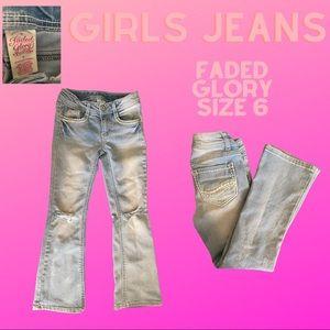 Girls Faded Glory Jeans light blue size 6